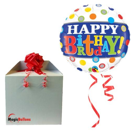 Bday Band & Dots - folija balon u paketu