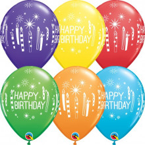 Balon Bday candles & Starbursts