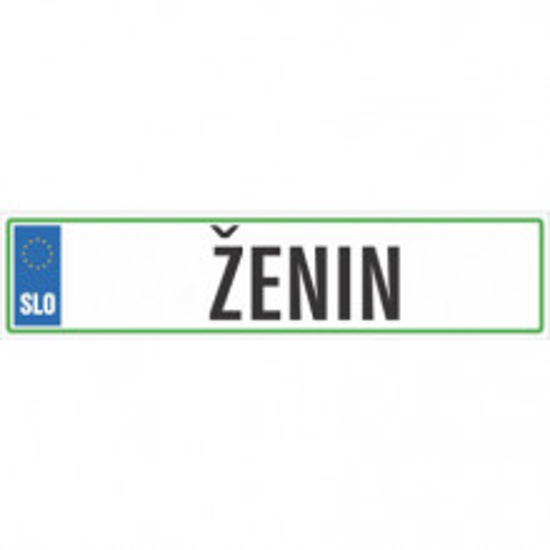 Automobilska tablica ŽENIN