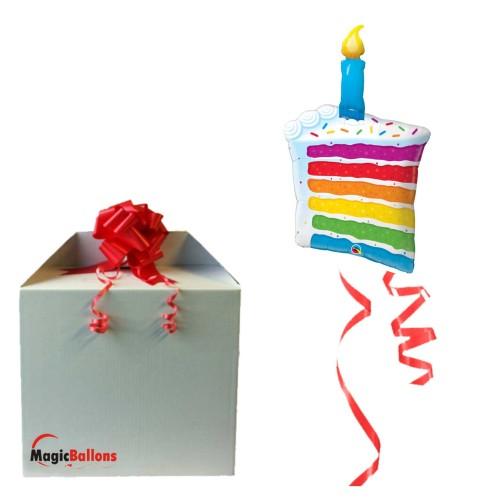 Rainbow Cake & Candle- folija balon u paketu