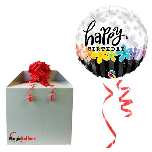 Bday Band of Flowers - folija balon u paketu