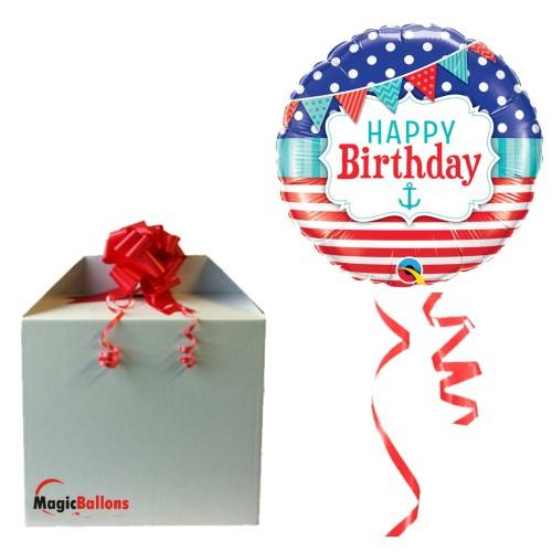 Bday Nutical & Pennants - folija balon u paketu