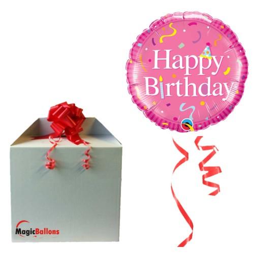 Bday Bday Pink - folija balon u paketu