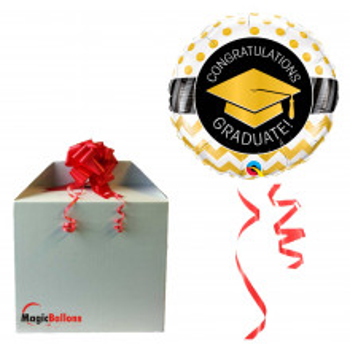 Graduate Gold Chevron Dots - folija balon u paketu