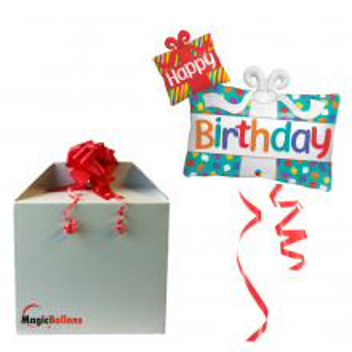 Happy Bday Presents - folija balon u paketu