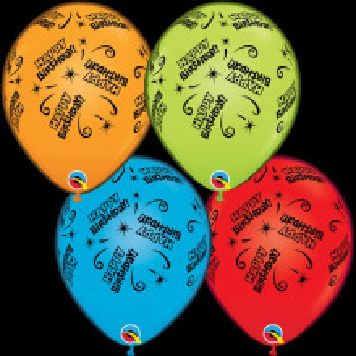 Šareni Happy Birthday baloni sa LED svjetlom