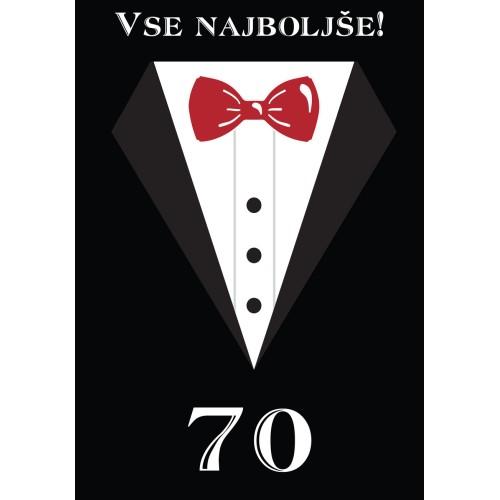 Čestitka vse najboljše 70