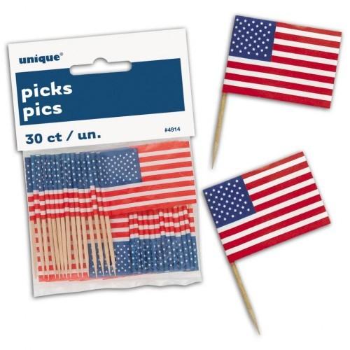 USA zastavice na štapiću