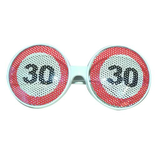 Prometni znak 30 naočala