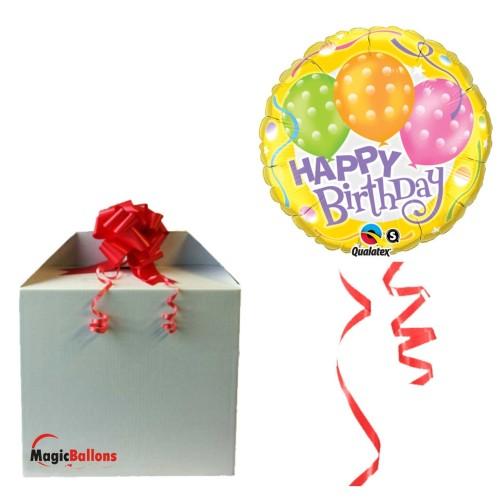 Birthday Polka Dot Balloons napihnjen