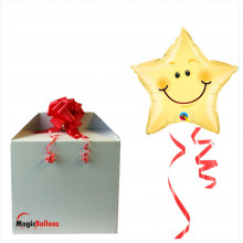 Smiley face star  - folija balon u paketu