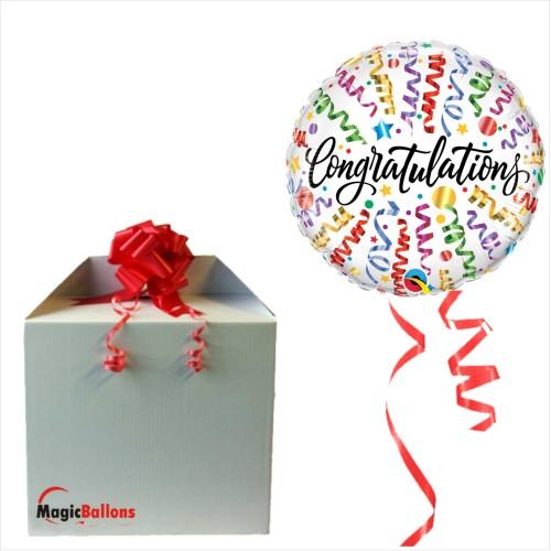 Congratulations streamers - folija balon u paketu