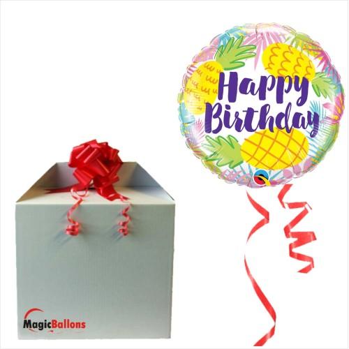 Bday Pineapples - folija balon u paketu