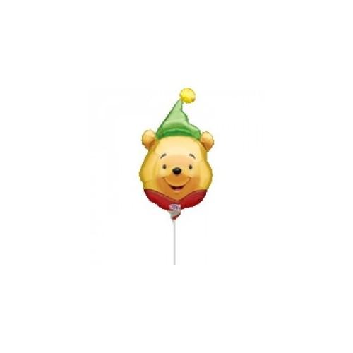 Winnie the pooh hat mini shape - folija balon na štapiću