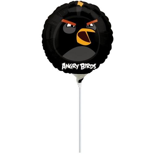 Black Bird - folija balon na štapiću