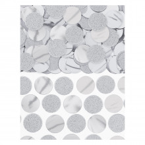 Srebrne točkice konfete