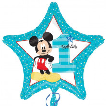 Mickey 1st Birthday - folija balon