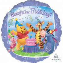 Pooh and Friends 1st Birthday - folija balon