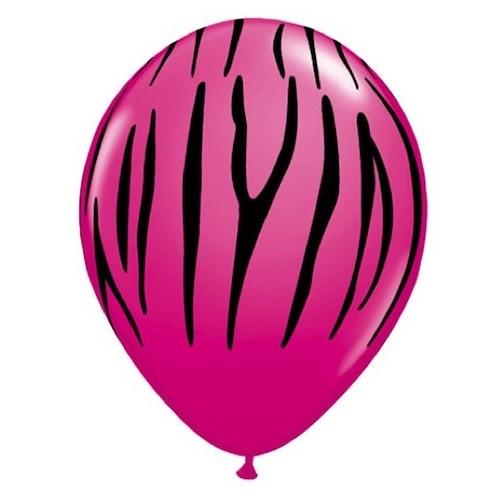 Balon Zebra stripes - wild berry