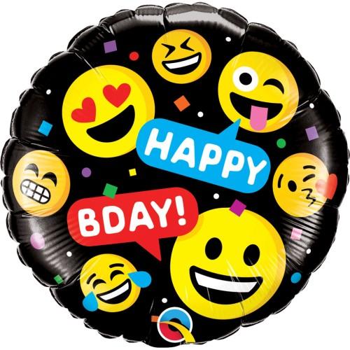 Smileys Happy Bday - folija balon
