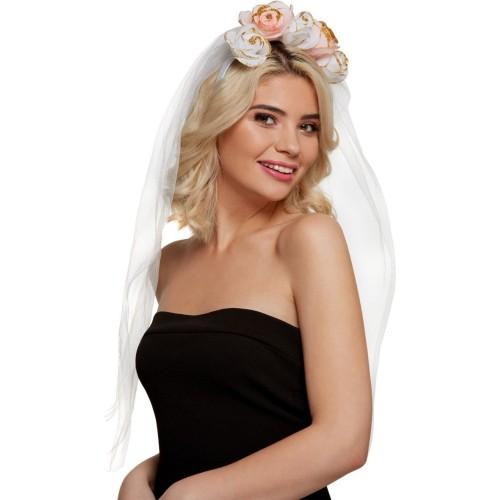 Obruć Bride sa bijelim veom