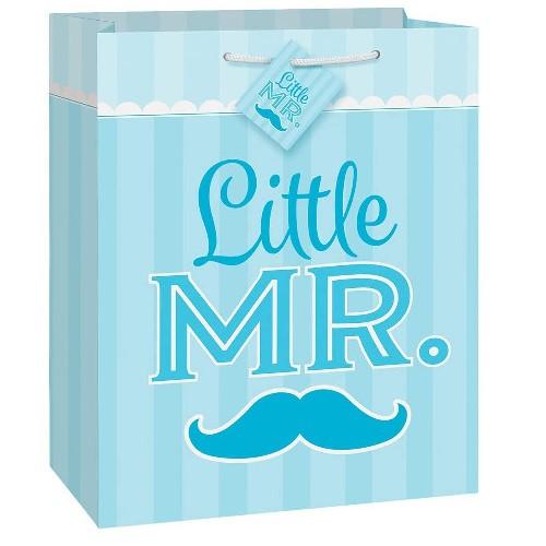 Mustache little boy plava vrećica