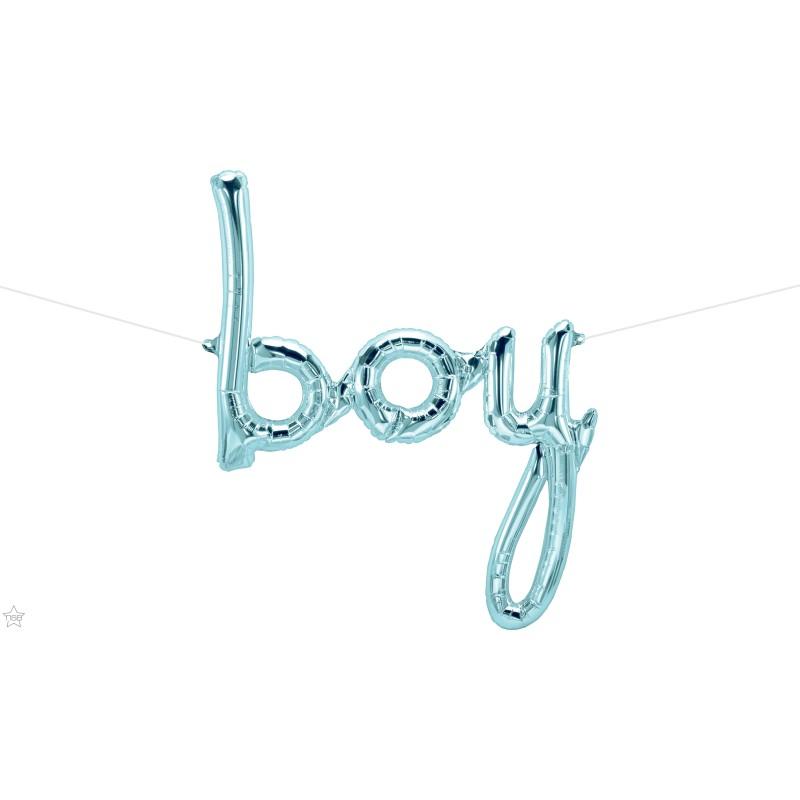 Boy folija balon - pastelno plava
