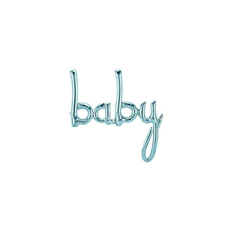 Baby folija balon - pastelno plava
