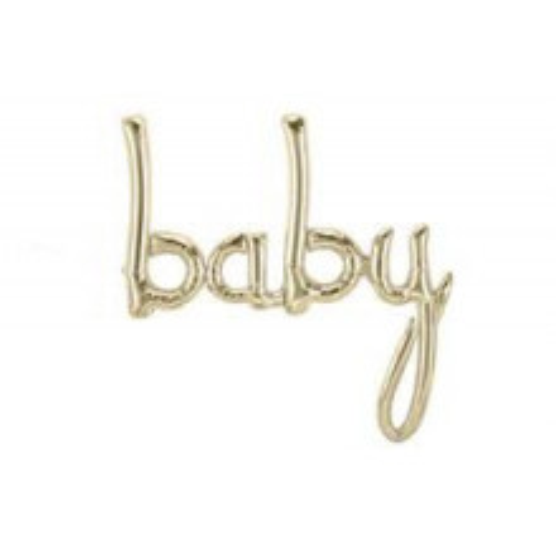 Baby folija balon - gold