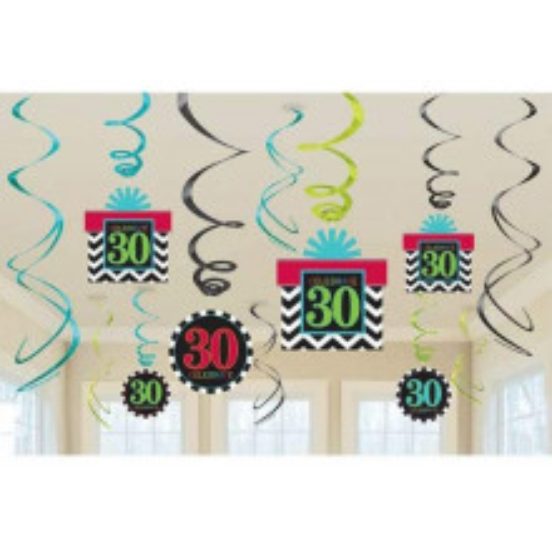 Birthday Chevron 30 hanging decoration
