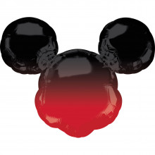 Mickey Mouse - Ombre foil balloon