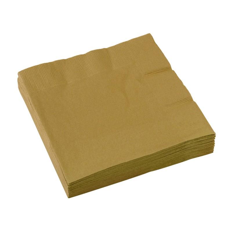 Napkins 33 x 33 cm - Gold