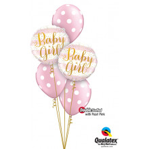 Baby Girl Pink Stripes - foil balloon