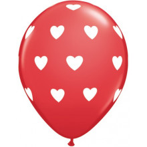 Balon Big Hearts - crveni