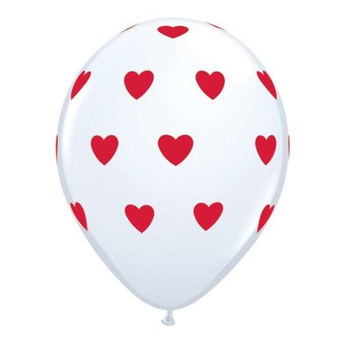 Balon Big Hearts - bijeli