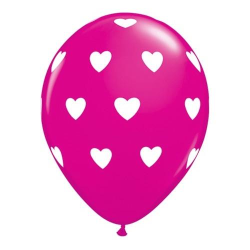 Balon Big Hearts - wild berry