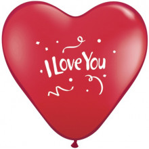 Balon I love You Confetti - crvena srca 38cm