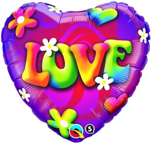 Love Psychedelic Daises - folija balon