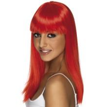 Rdeča neon lasulja