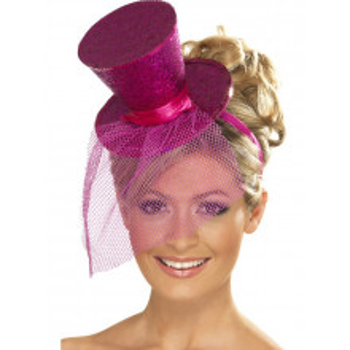 Mini pink šešir