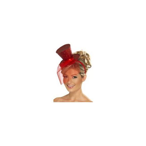 Mini crven šešir