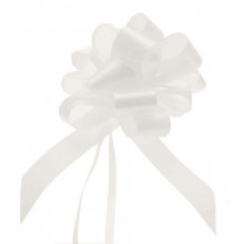 Bele mašne 3 cm
