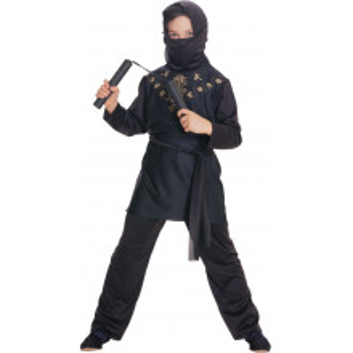 Ninja kostim crn