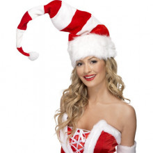 Prugasta božićna kapa