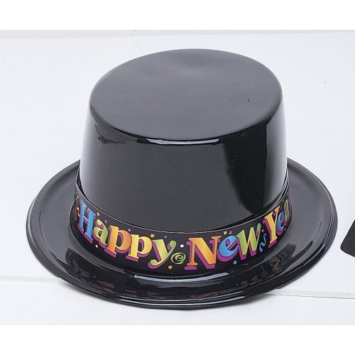 Šešir New Year - crni plastičan