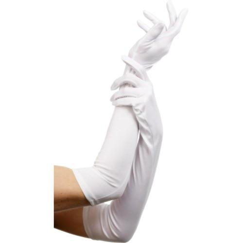 Bele damske rokavice