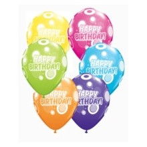 Balon Birthday Dots & Glitz