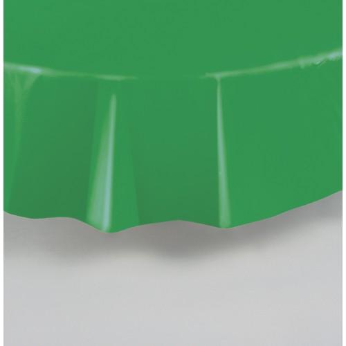 Svetlo zelen okrogel prt