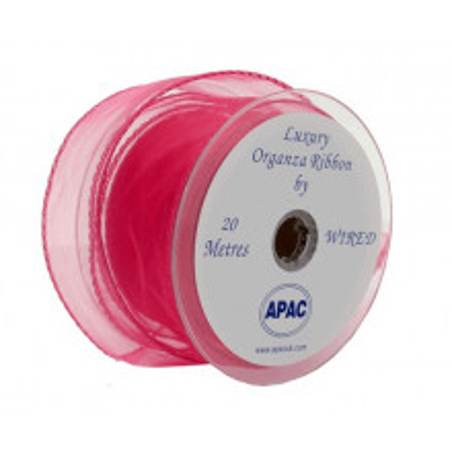 Organza trak - pink