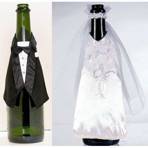 Poročni komplet za steklenico